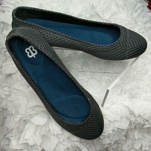 BetaBrand Better-Ballet Grey Flats Size 8M